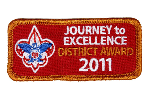 2011 District Journey to Excellence Award Bronze Patch