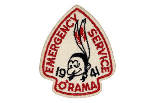 1941 Emergency Service O'Rama Felt Patch