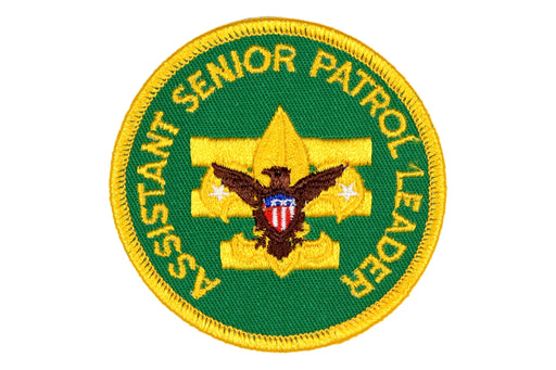 Assistant Senior Patrol Leader Patch 1970s Clear Plastic Back