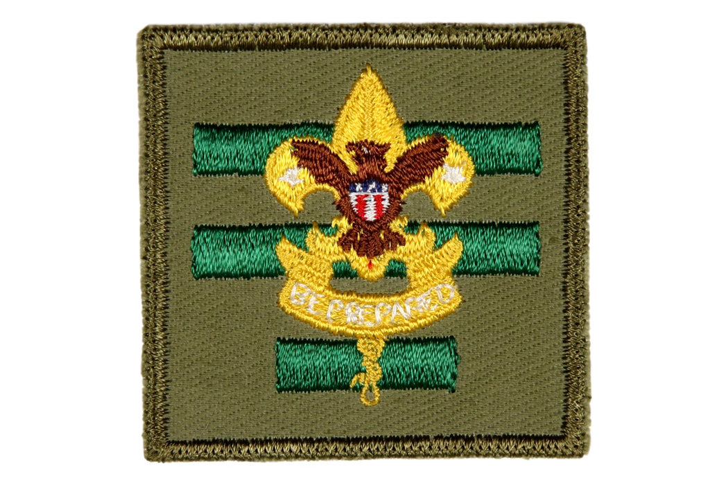 Senior Patrol Leader Patch 1960s Rough Twill Gum Back