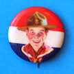 Pin Back Boy Scout Front View Campaign Hat