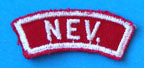 Nevada Red and White State Strip