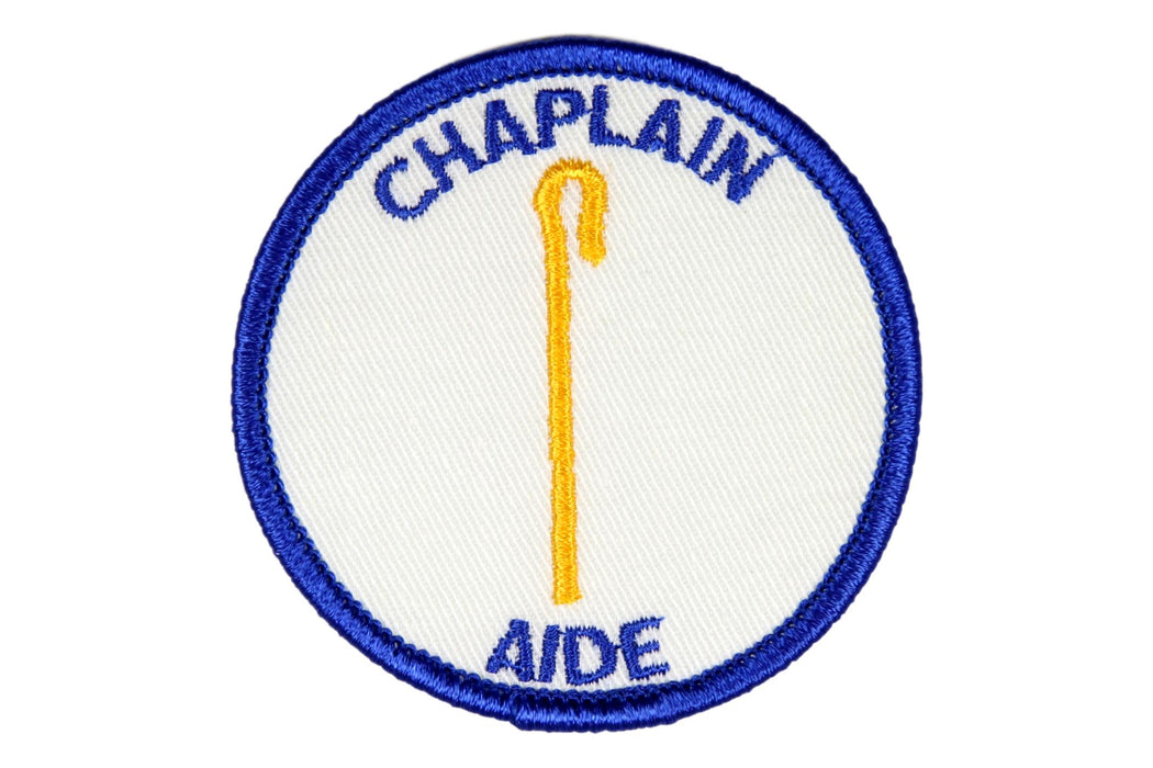 Chaplain Aide Patch White Clear Plastic Back