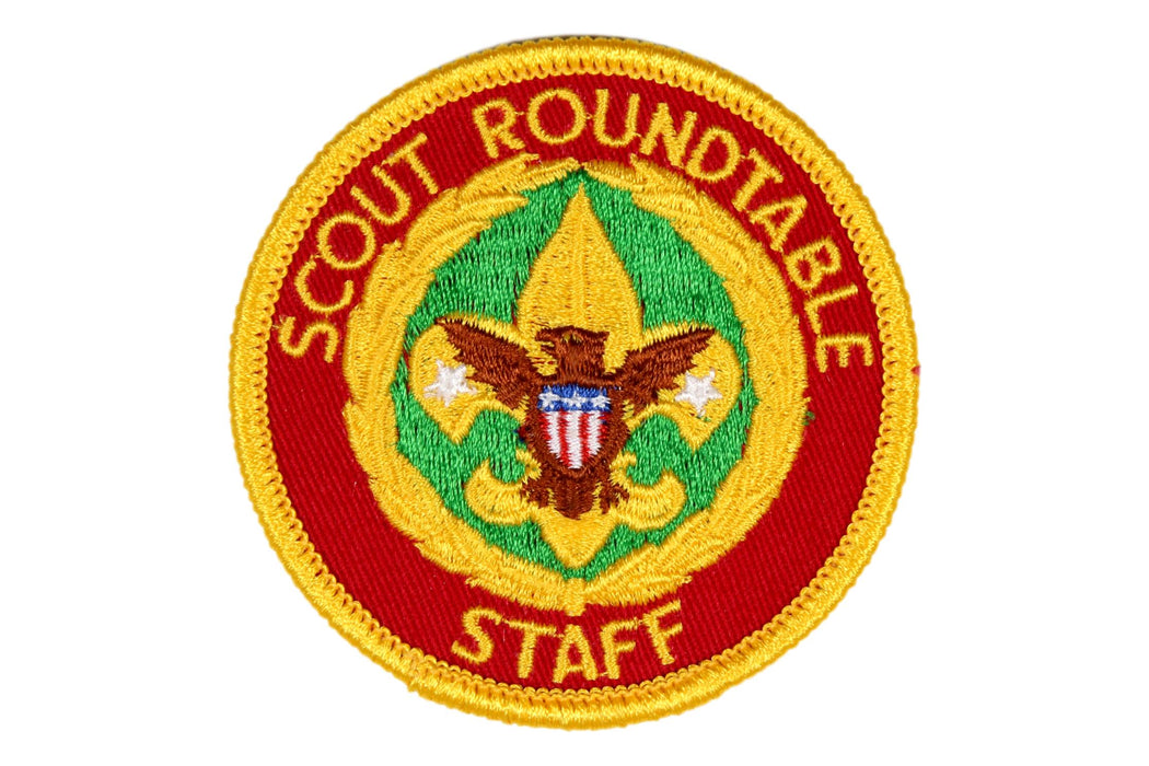 Scout Roundtable Staff Patch Gauze Back