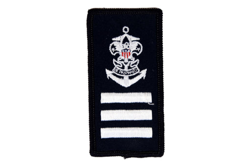 Sea Scout Able Patch on Blue Rolled Edge