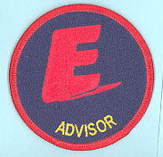 Advisor Patch Fully Embroidered Blue Background