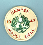 1947 Utah National Parks Maple Dell Camper Pin