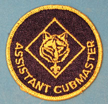 Assistant Cubmaster Patch 1980s Gold Mylar Border