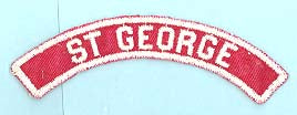 St George Red and White City Strip