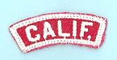 California Red and White State Strip