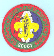 LDS Scouting Patch Prototype? Red Ltrs/Wht Scout