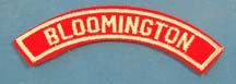 Bloomington Red and White City Strip