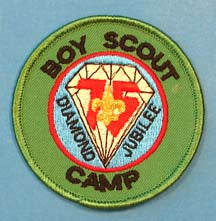 Boy Scout Camp Patch Plastic Back
