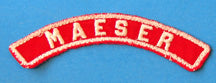Maeser Red and White City Strip