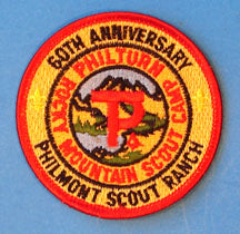 Philmont 60th Anniversary Patch RED Border