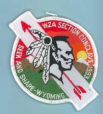 1993 Section W2A Conclave Patch Patricipant
