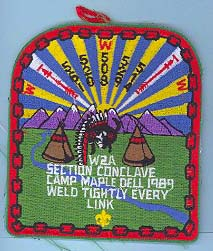 1989 Section W2A Conclave Patch
