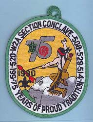 1990 Section W2A Conclave Patch Participant