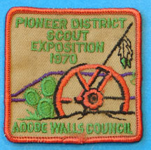 Adobe Walls Council Pioneer District 1970 Patch