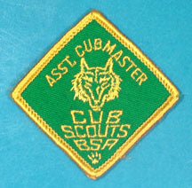 Assistant Cubmaster Patch 1960s w/Title Gauze Back