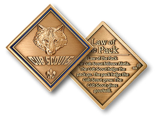 Cub Scout Law of The Pack Coin