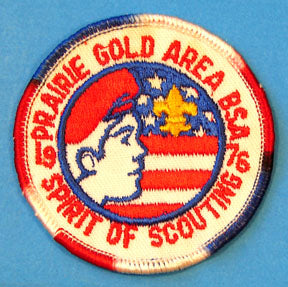 Prairie Gold Area 1976 Spirit of Scouting Patch