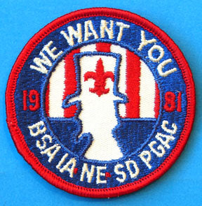 Prairie Gold Area 1981 We Want You Patch