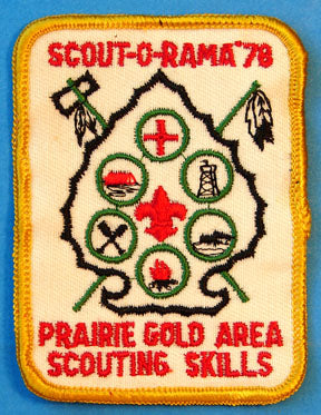 Prairie Gold Area 1978 Scout-O-Rama Patch