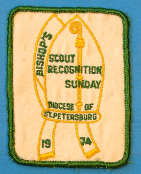 Diocese of St. Petersburg 1974 Scout Recognition Sunday Patch