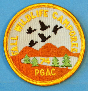 Prairie Gold Area 1974 Fall Wildlife Camporee Patch
