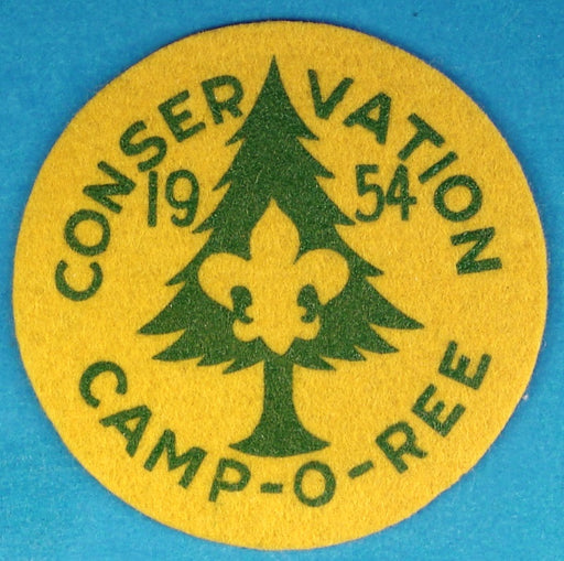 1954 Conservation Camp-O-Ree Patch Felt