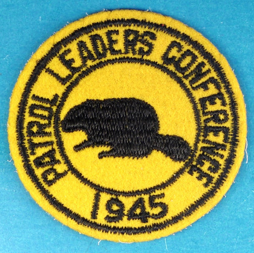 1945 Patrol Leaders Conference Patch Felt
