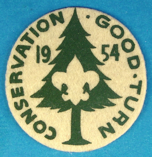 1954 Conservation Good Turn Patch Felt