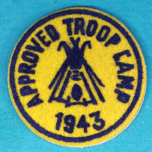 1943 Approved Troop Camp Patch Felt