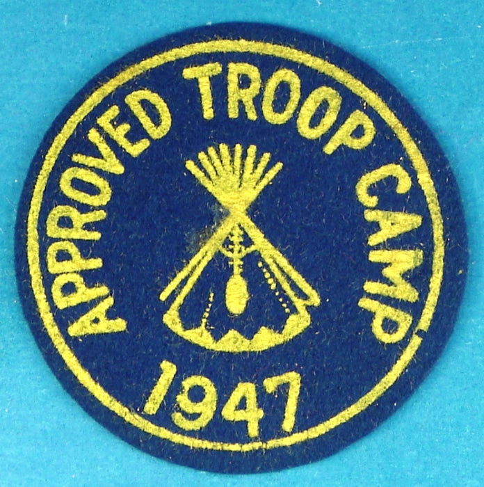 1947 Approved Troop Camp Patch Felt