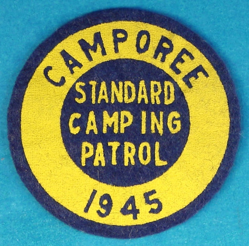 1945 Camporee Standard Camping Patrol Patch Felt