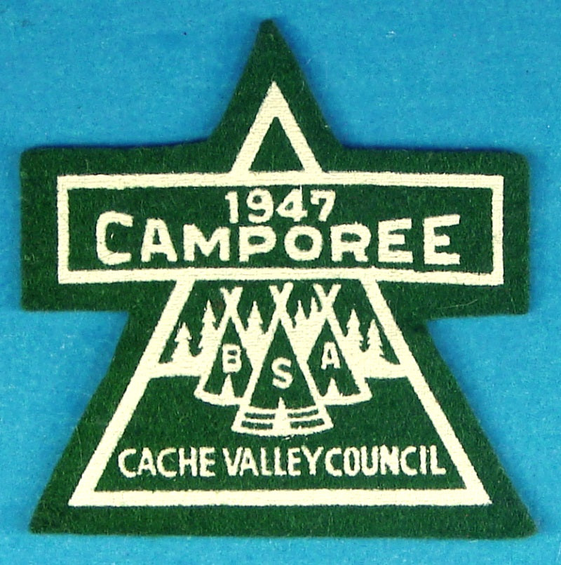 1947 Camporee Patch Felt Cache Valley Council