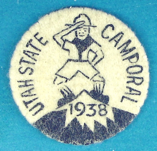 1938 Utah State Camnporal Patch Felt