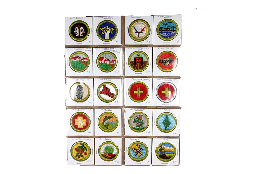 !1960s Cloth Back Merit Badge Collection 119 MBs