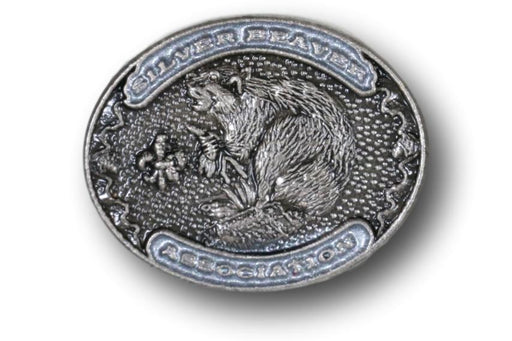 "Silver Beaver Association Pin 3/4"" Oval"