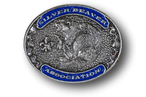 "Silver Beaver Association Pin 3/4"" Oval Blue"