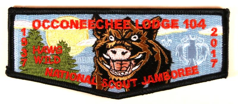 Lodge 104 Flap S-New 2017 NJ Blue Background