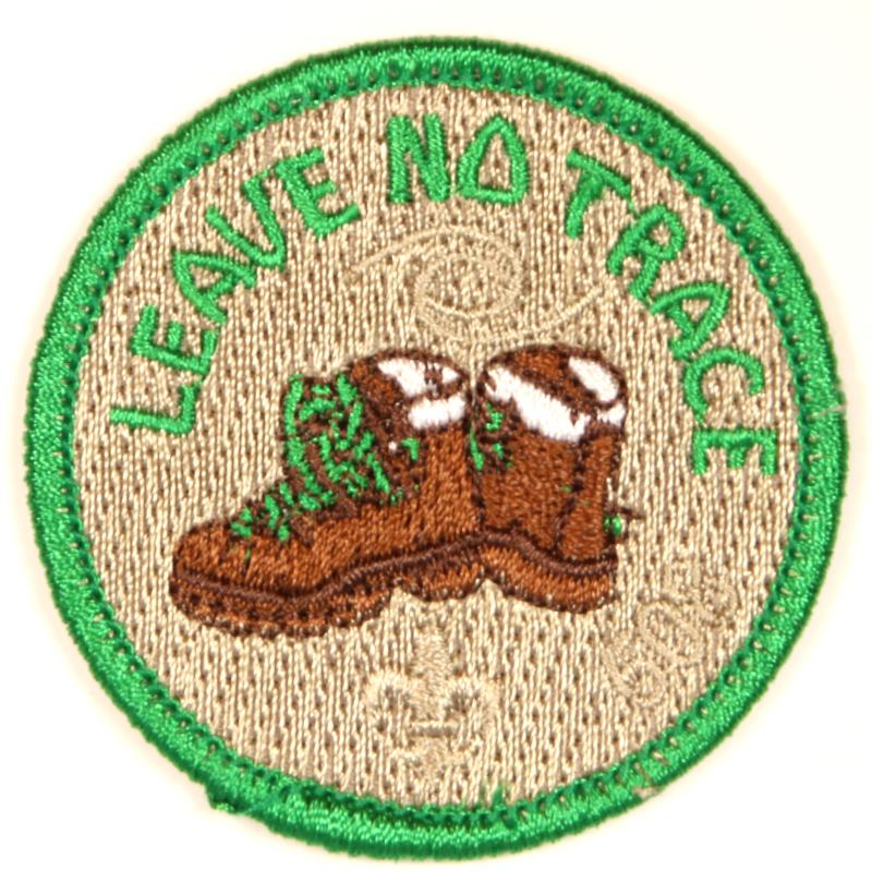 Leave No Trace Segment Center Patch with Boot