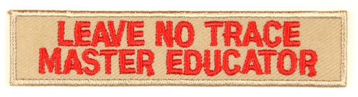 Leave No Trace Strip Master Educator Red