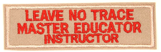 Leave No Trace Strip Master Educator Instructor Red