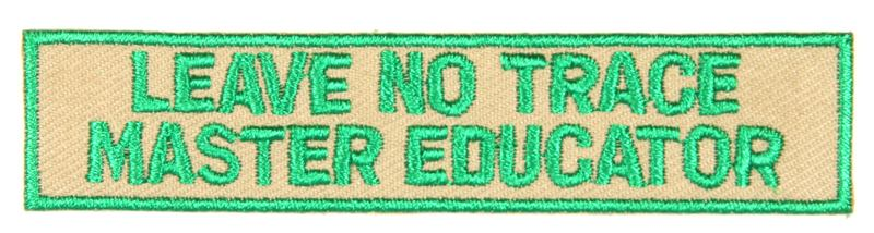 Leave No Trace Strip Master Educator Green