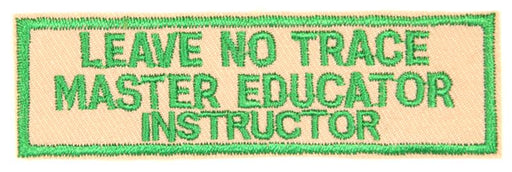 Leave No Trace Strip Master Educator Instructor Green