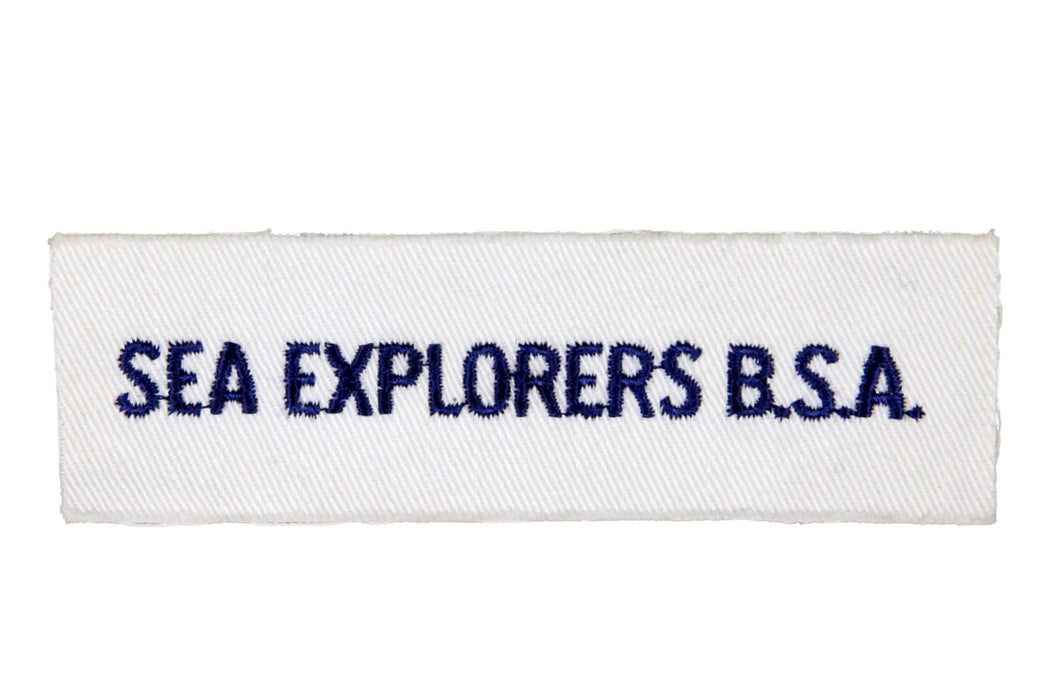 Sea Explorers B.S.A. Shirt Strip on White Twill