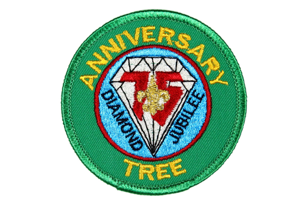 Anniversary Tree Patch Clear Plastic Back
