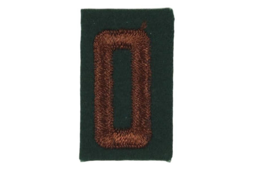 0 Felt Unit Number Brown on Green